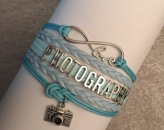 Photography - Infinity Love Bracelet - Lt Blue/Green