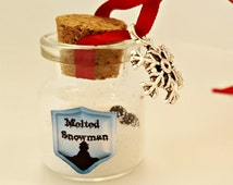 Melted Snowman - Christmas Keyring - Stocking Filler Gift - Melted Snowman Decoration - Christmas Decoration