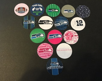 Seattle Seahawks Pink Mix Buttons Set of 15