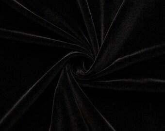 Gem - velvet fabric (black) cotton - 0, 5m