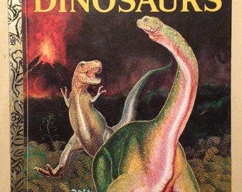 Dinosaurs - Vintage Childrens Book - Little Golden Book