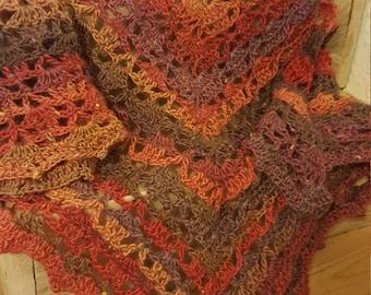 Crochet shawlette scarf