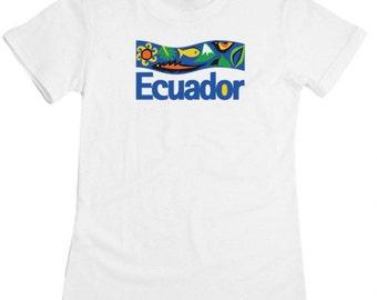 Ecuador country ladies t-shirt