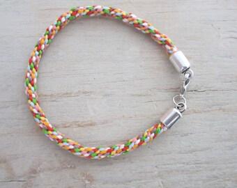 Kumihimo bracelet, kumihimo braided strap, multicolore kumihimo bracelet, moderne bracelet, valentines day gift, handmade bracelet