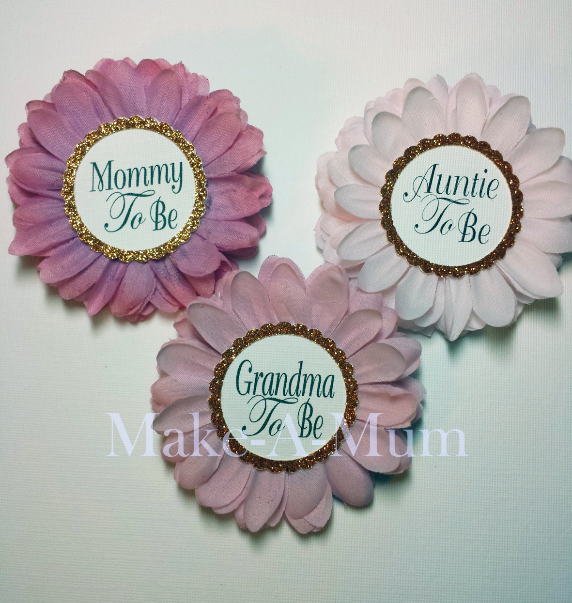 Hand-dyed Baby Shower Corsagebaby Shower FavorsMommy By MakeAMum