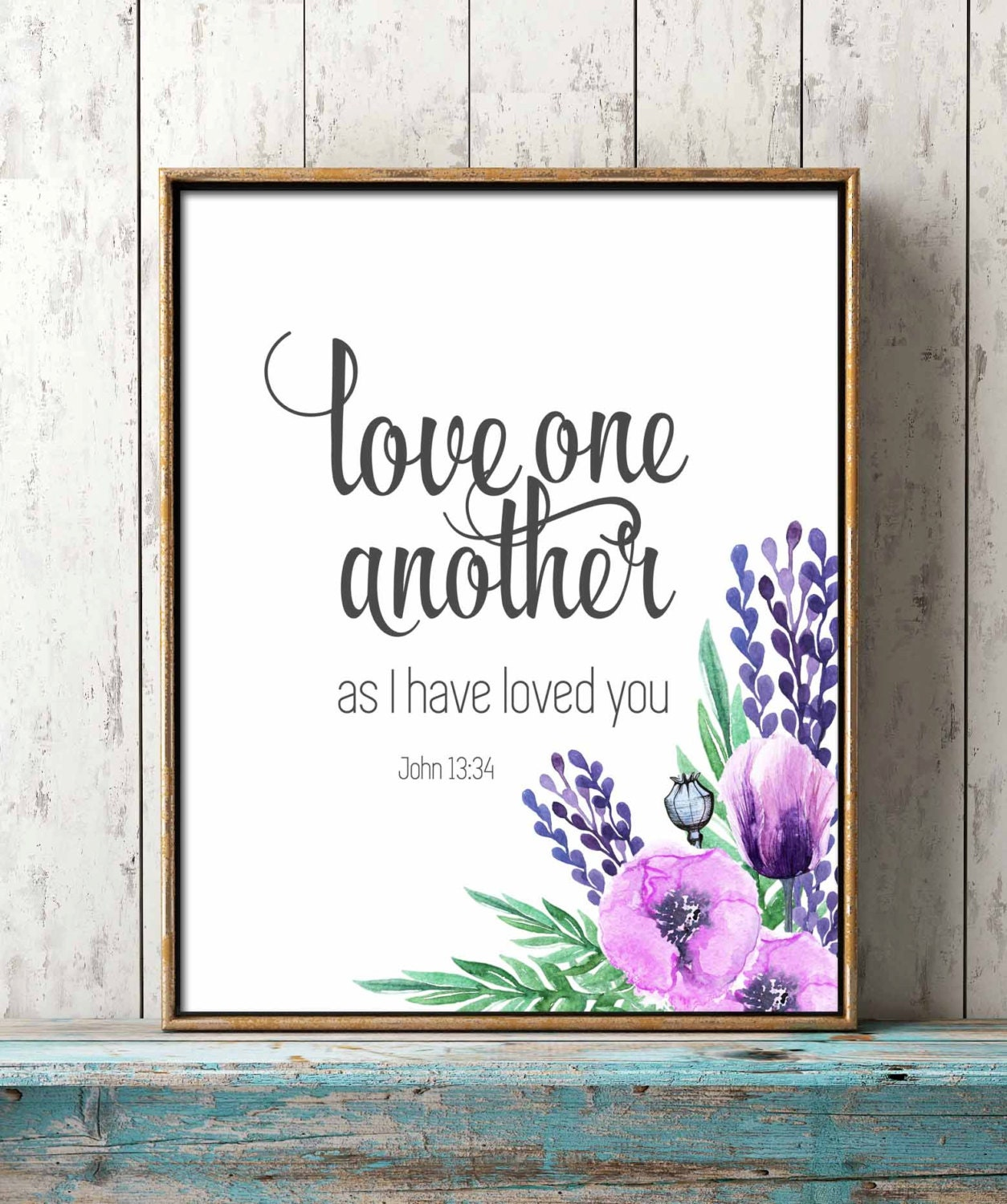 Love One Another: Digital Print Bible Verse Love One Another As By