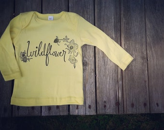 12-18 month Wildflower shirt - Original and Ethical Fashion
