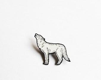 Howling Wolf Enamel Pin