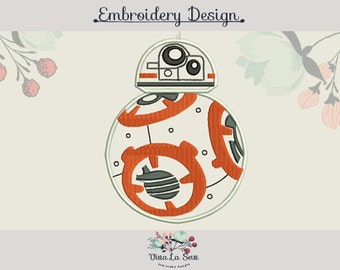 BB8 Applique Star Wars Embroidery Design
