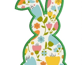 Instant Download Easter Bunny / Rabbit Applique Embroidery Design