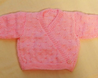 Pink Crossover Style Ballerina Cardigan for a Baby Girl, Gift, Baby Shower, New Baby, Baby Clothes, Baby Accessories, Birthday, Christmas
