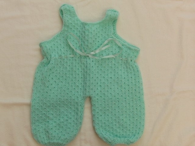 Unisex Baby Dungarees Hand Knitted in by Creationsfortinytots