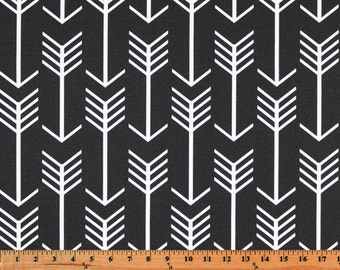 Arrow Fabric, Premier Prints Arrow Black, Fabric by the Yard, Home Decorator Fabric, Upholstery Fabric, Cotton Fabric Yardage