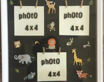Animals shadow box frame