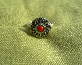Buddhist ring Lotus. Handmade. Tibetan Jewelry. Buddhism Vajrayana. Tibetan Ring. Lotus Flower. Buddha. Tibetan buddhism. Tantric. Tantra