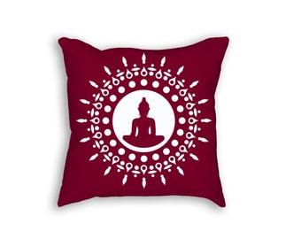 Cover + Insert | Budda/Meditation Throw Pillow | 18x18