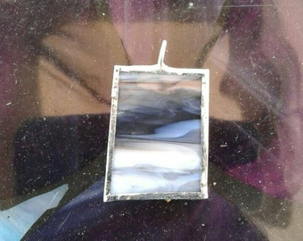Stormy sky stained glass pendant