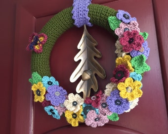 Crochet Spring Wreath