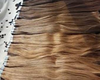 100% human Remy hair Tape Hair Tape Hair Extension 40pcs/set Tape In Human tape Hair extensions  20 inch European hair , 100 GRAMS