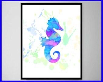 Seahorse, Seahorse Poster, Seahorse Wall Art, Seahorse Art, Seahorse Decor, Seahorse Print, Home Decor, Wall Art,
