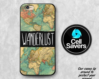 Wanderlust iPhone 6s Case iPhone 7 Plus iPhone 6 Plus iPhone 6s Plus iPhone 5c iPhone 5 iPhone SE Case Wanderlust World Map Travel Tumblr