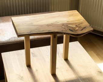 Highly figured spalted beech side table