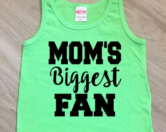 Customizable - Mom's Biggest Fan tank top - baby boy or girl tank - toddler tank - summer tank top