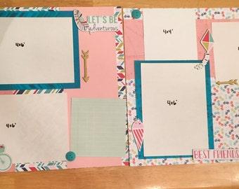 Adventure 2 page scrapbook layout