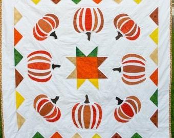 Pumpkin Patch Quilt, Pumpkin Quilt, Fall Quilt