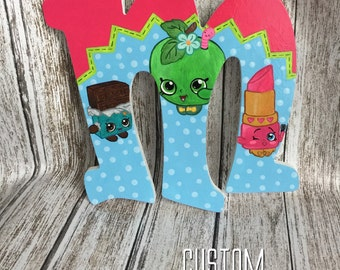 Shopkins hand painted letter