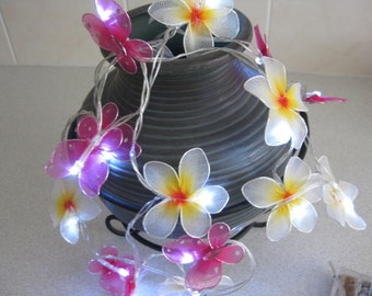 20 Led String Lights - Butterfly and Franjipani