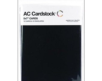 "Envelopes & cards 5 ""X 7"" 12/Pkg-black"