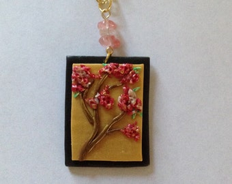Plum blossoms in polymer clay