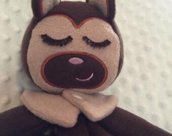 Personalized Baby Gift, Adorable Little Monkey Blanket