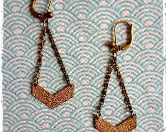 "Earrings Golden chevrons ""MiMi"""