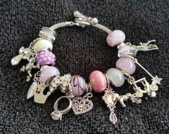 Once Upon a Time Pandora style charm bracelet