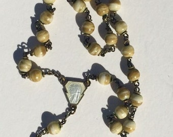 Vintage Rosary w/ Sterling Silver Crucifix
