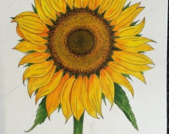 Sunflower Acrylic Painting Original
