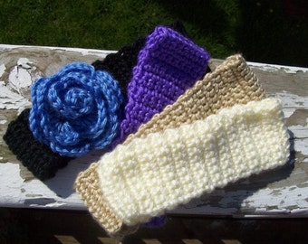 Crocheted earwarmer