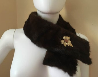 Vintage Mink Brown Collar
