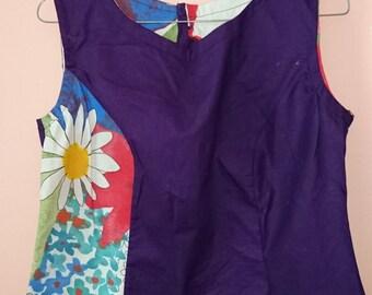 Blouse- Purple Floral