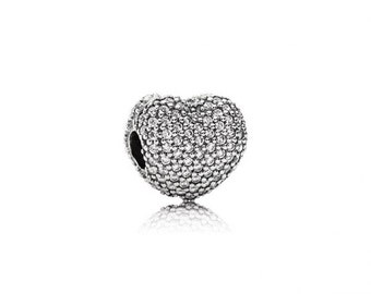 Authentic Pandora Open My Heart Clip Charm