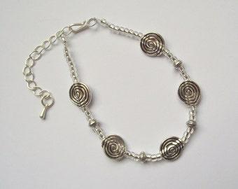 Silver swirl bracelet 2 (16.077)