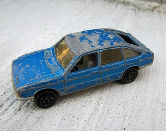Vintage Majorette Simca Toy Car, Blue Majorette Toy Car, Simca 1308 Toy Car, Majorette Simca 1308