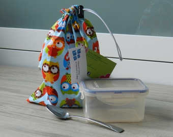 Reusable bag for snack, snack