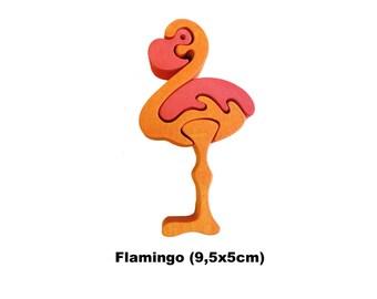 Mini Puzzle Pelican / Handmade / Animals / Wooden toys / Zoo / Africa / Waldorf / Montessori