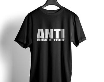 Anti World Tour T shirt Rihanna Kanye West big Sean umbrella Jay Z HM blogger Cara weekend top unisex