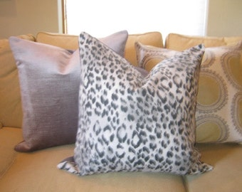 Handmade 22 inch pillow covers, Chic Gray Cheetah Print! Four Available! Gorgeous and Fun!!