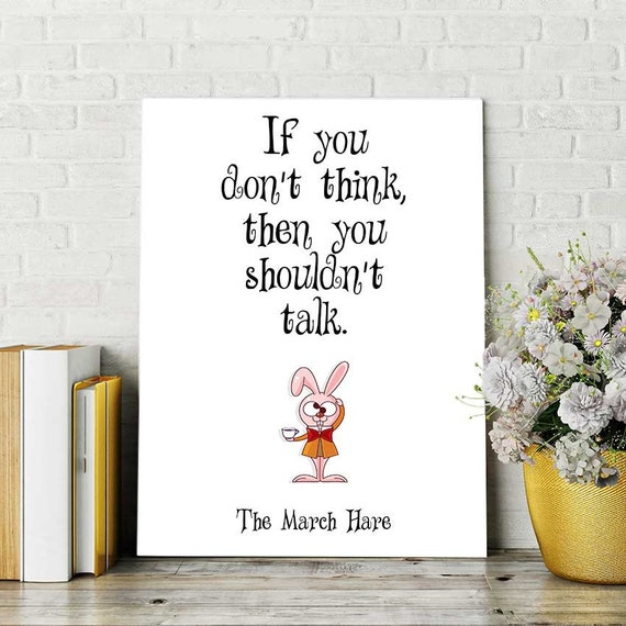 March Hare Quotes: Alice In Wonderland Printable Quotes March Hare By DigitalSpot