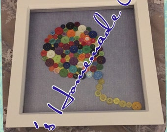 Button party balloon picture frame